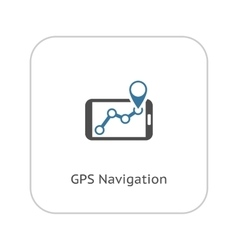 GPS Navigation Icon Flat Design vector image vector image