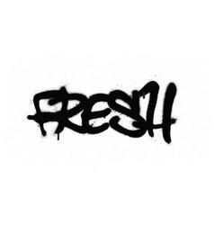 Graffiti tag fresh sprayed with leak in black vector
