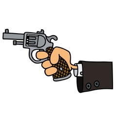 Gun in a hand vector