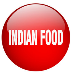 Indian food red round gel isolated push button vector
