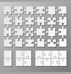 jigsaw puzzle piece template isolated vector image