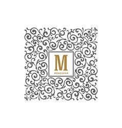 Monogram vector image vector image