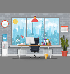 Office building interior vector