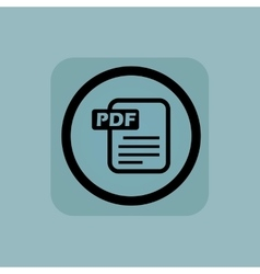 Pale blue pdf file sign vector