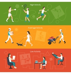 Physical Activity Banners vector image vector image