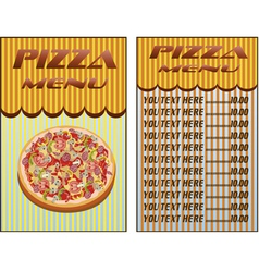 Pizza menu restaurant vector image vector image