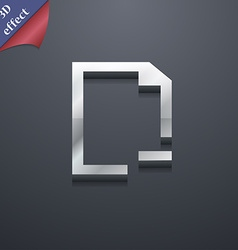 Remove Folder icon symbol 3D style Trendy modern vector image