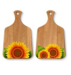 Set of realistic wooden cutting boards vector
