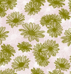 vector flower seamless background vector image vector image