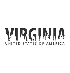 virginia usa united states of america text or vector image