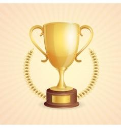 winner trophy vector image