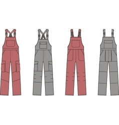 Work overalls set vector
