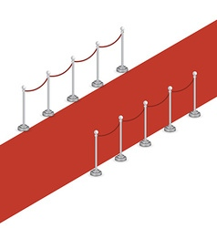 Isometric red carpet vector