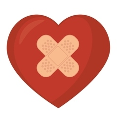 Heart band aid love design vector