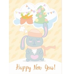 New years eve greeting card stunning with cute vector