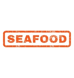 Seafood rubber stamp vector