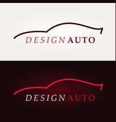 sport car logo company vector image
