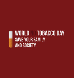 world no tobacco day style banner collection vector image