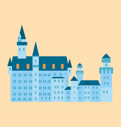 Castle tower tourism travel design famous building vector