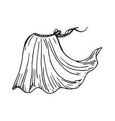 Painted spring-summer skirt vector