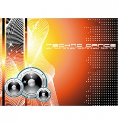 Techno dance background vector