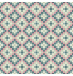 Abstract green pink pixel background vector image