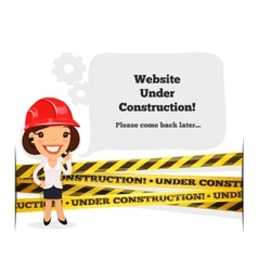 Website under construction message vector