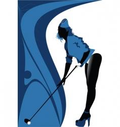 sexy golf vector image