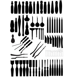 Chisels and grips vector