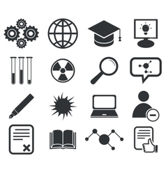 Science icon set 2 simple vector