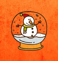 Snow globe cartoon vector