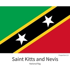 National flag of saint kitts and nevis with vector