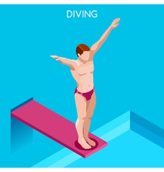 Diving 2016 summer games isometric 3d vector