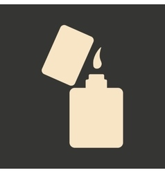 Flat in black and white mobile application lighter vector