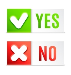 Yes and no buttons vector