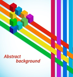 Abstract background with multicolored stripes vector