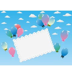 balloons toy card vector image