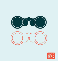 Binoculars icon isolated vector