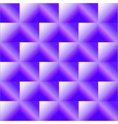 Blue checkered background with rhombuses vector image