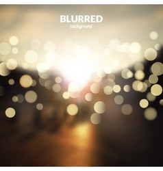 Blurred nature landscape with bokeh lights effect vector image