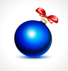 Cool blue christmas decoration vector