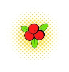 Cranberry icon in comics style vector