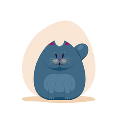 cute surprised fatty smokey blue vector image