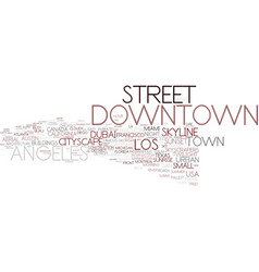 downtown word cloud concept vector image vector image