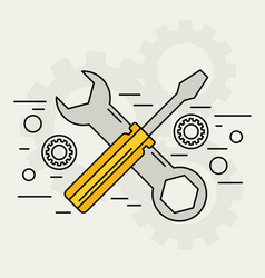 flat repair icon mechanic service concept web vector image vector image