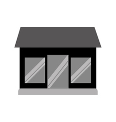front store building isolated icon vector image vector image