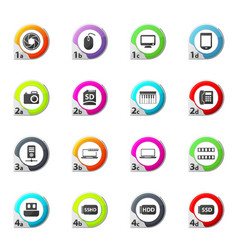 Gadget icons set vector