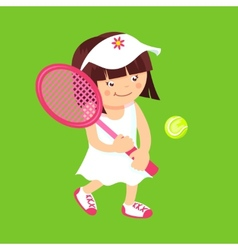 Girl with tennis racquet vector image vector image