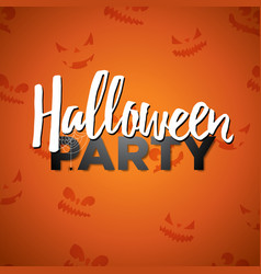 halloween party with vector image