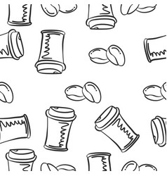 Hand draw coffee of doodles vector